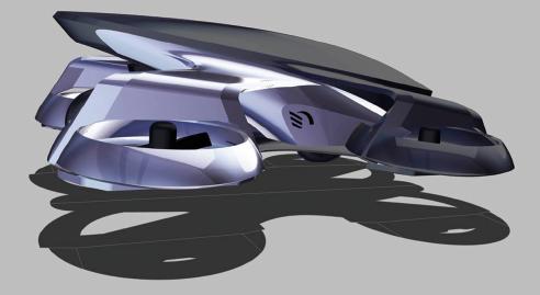 図表2 CARTIVATOR 空飛ぶクルマコンセプト車両外観