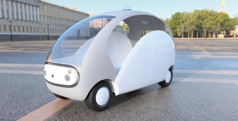 ティアフォーとパートナー企業で開発した完全自動運転EV「マイリー」 出典:加藤氏御提供資料