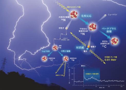 図表 雷での光核反応(ショートバースト)の模式図