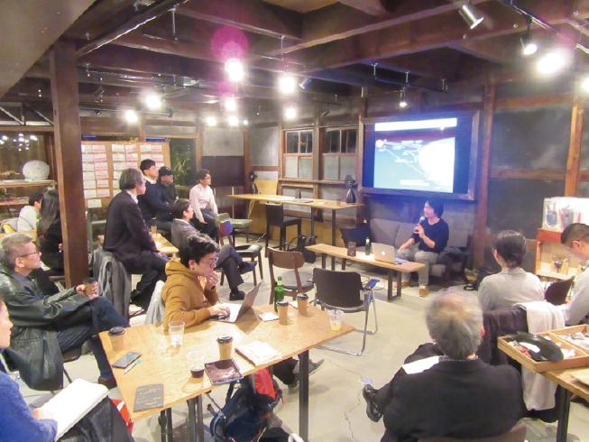 インタビュー直後に行われた勉強会(第26回KYOTOオープンサイエンス・ミートアップ)の様子
