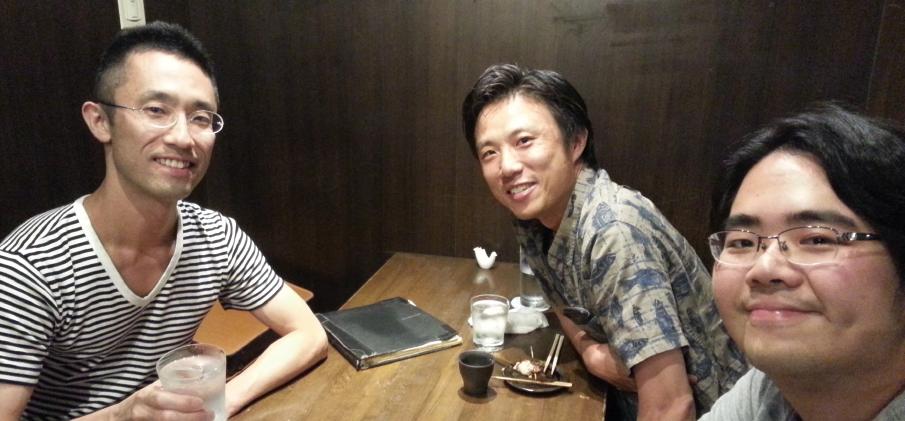 左から伊神 満氏、平岡 裕章氏(京都大学)、エマーソン・エスコラール氏(理研AIP)。提供:伊神 満氏