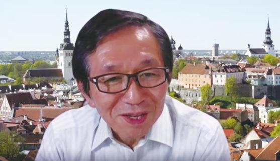 遠隔会議システムによりインタビューに答える森田 朗 氏(2020年7月8日インタビュー中写真:科学技術・学術政策研究所(NISTEP)撮影)